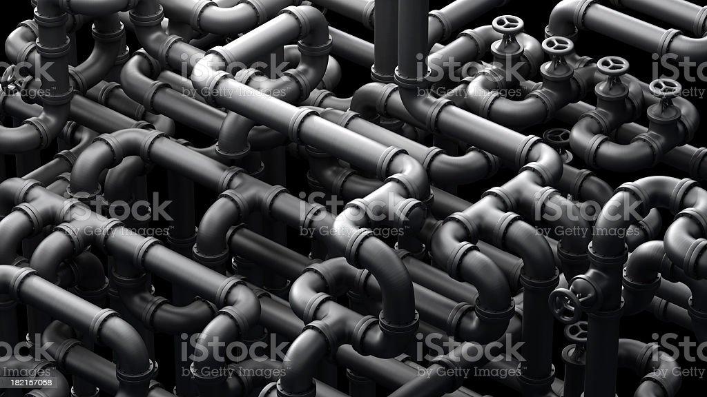 Global Pipeline stock photo
