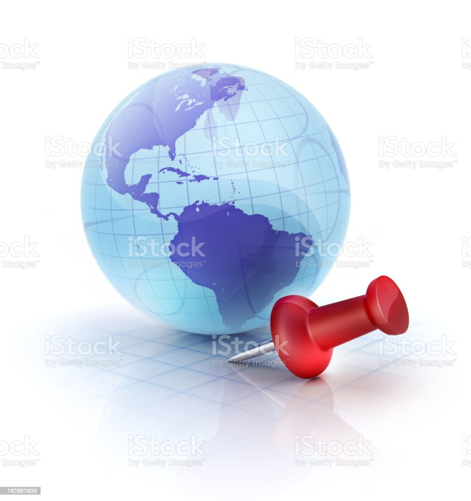 Global Position royalty-free stock photo