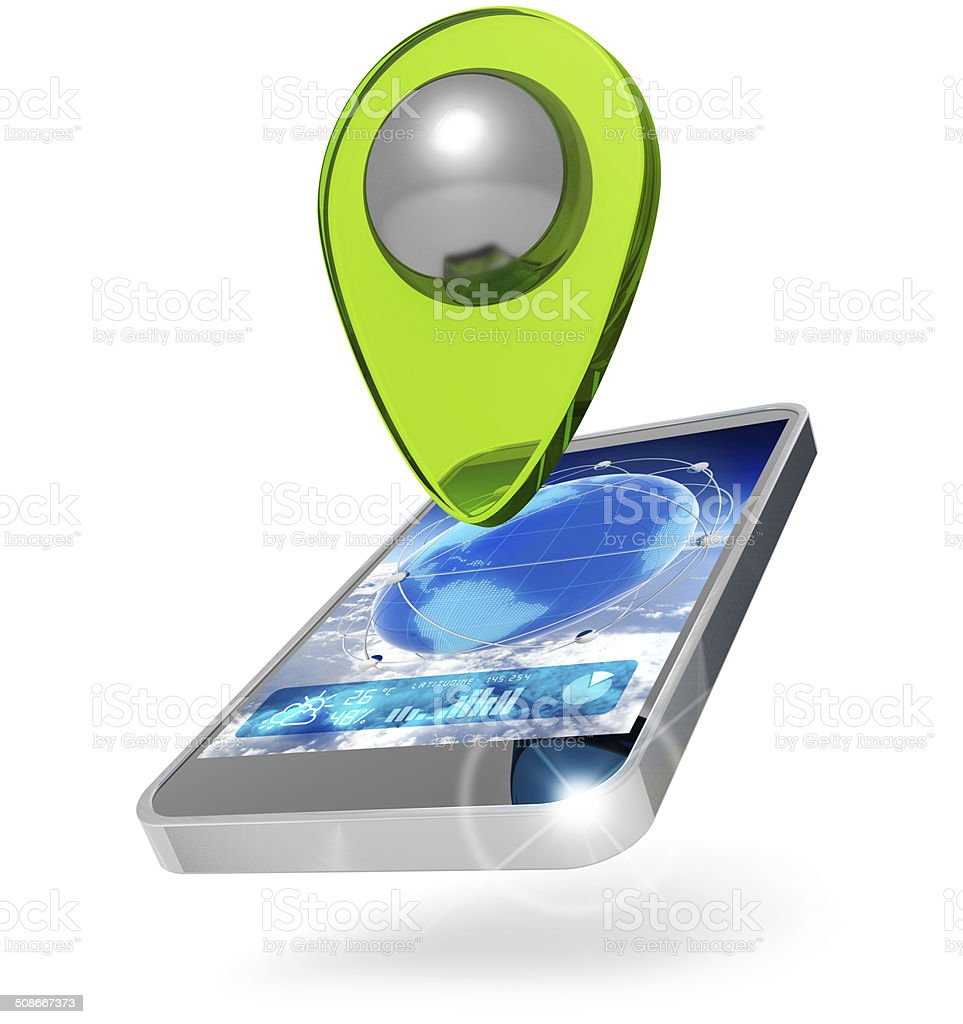 global positioning system icon stock photo