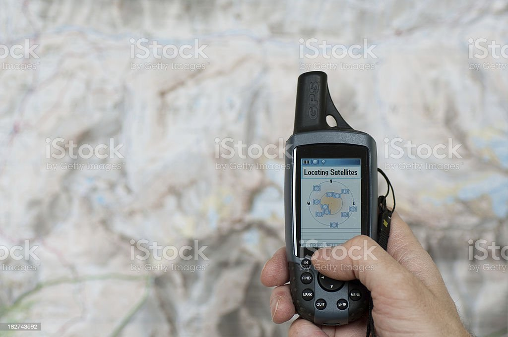 Global Positioning System - Locating satellites stock photo
