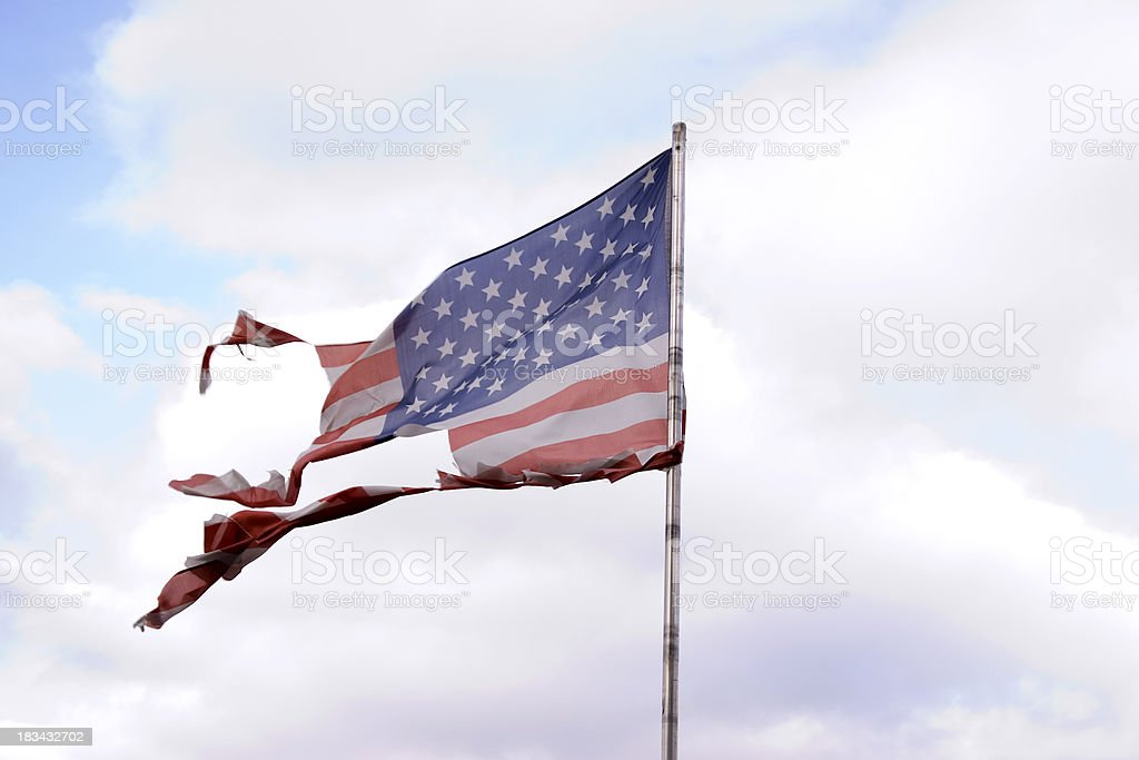 U.S. Global Power in Stormy Times royalty-free stock photo