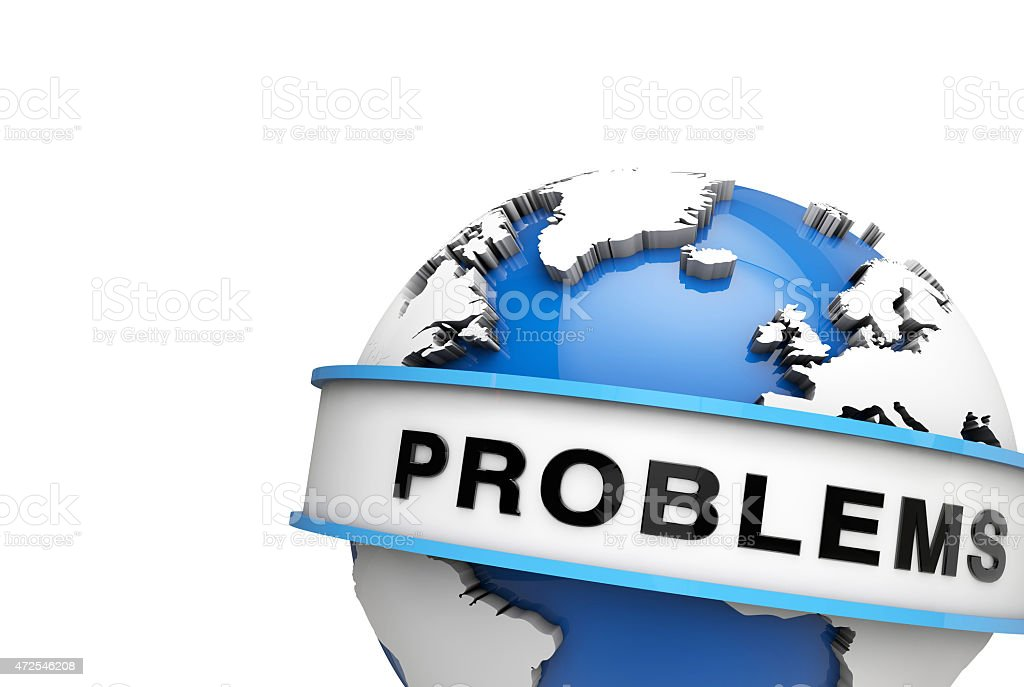 Global problems stock photo