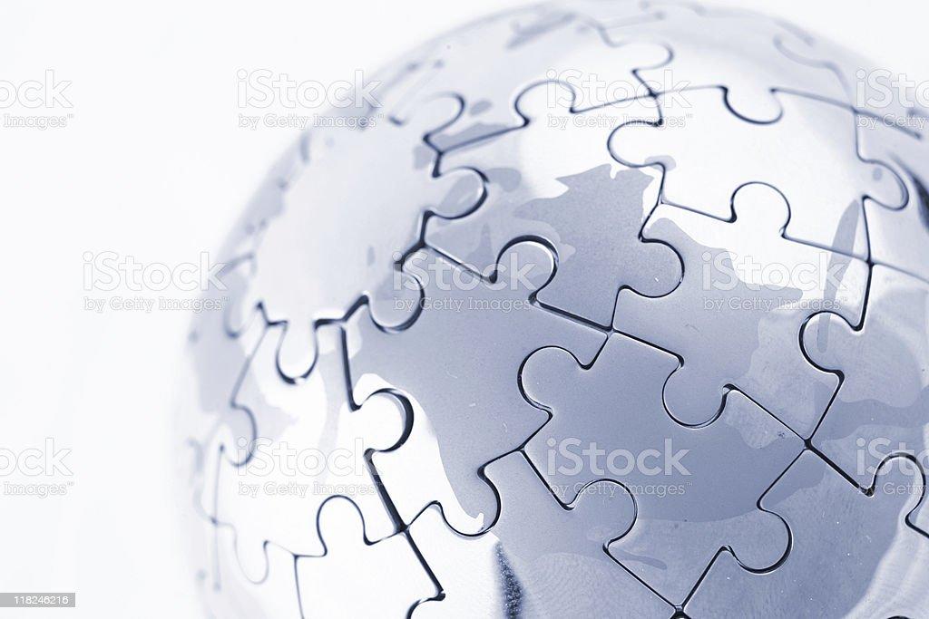 Global puzzle stock photo