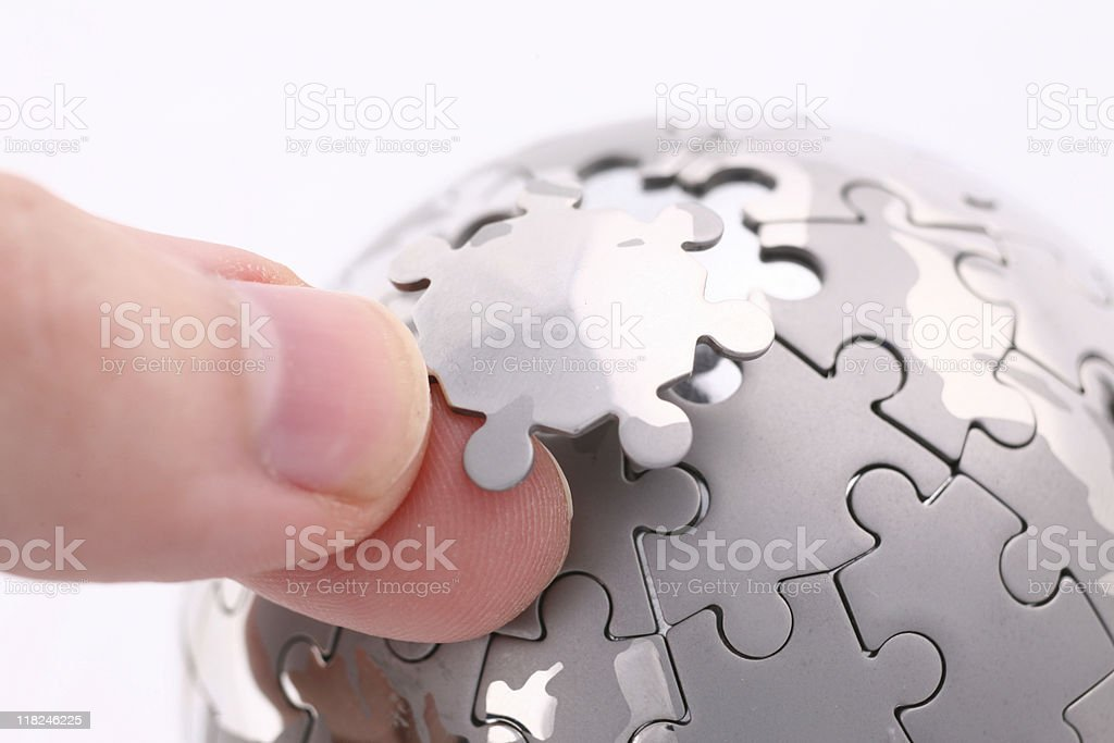 Global puzzle royalty-free stock photo