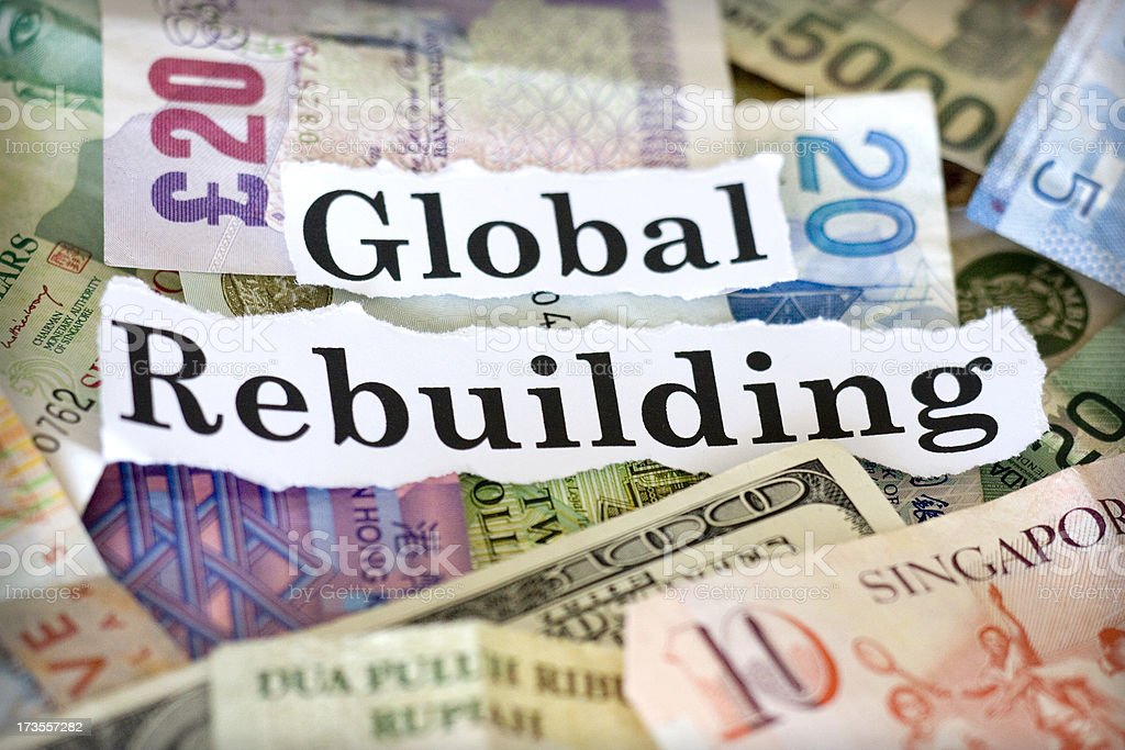 global rebuilding stock photo