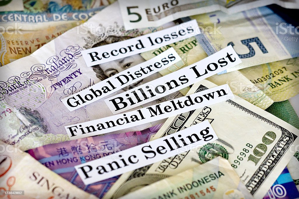 global recession stock photo