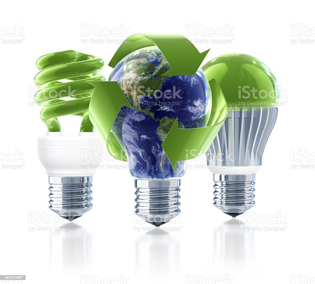 Global Recycling and Green Energy stock photo