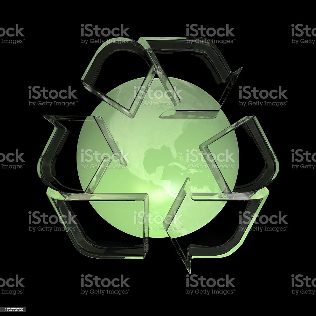 Global Recycling - Green Globe royalty-free stock photo