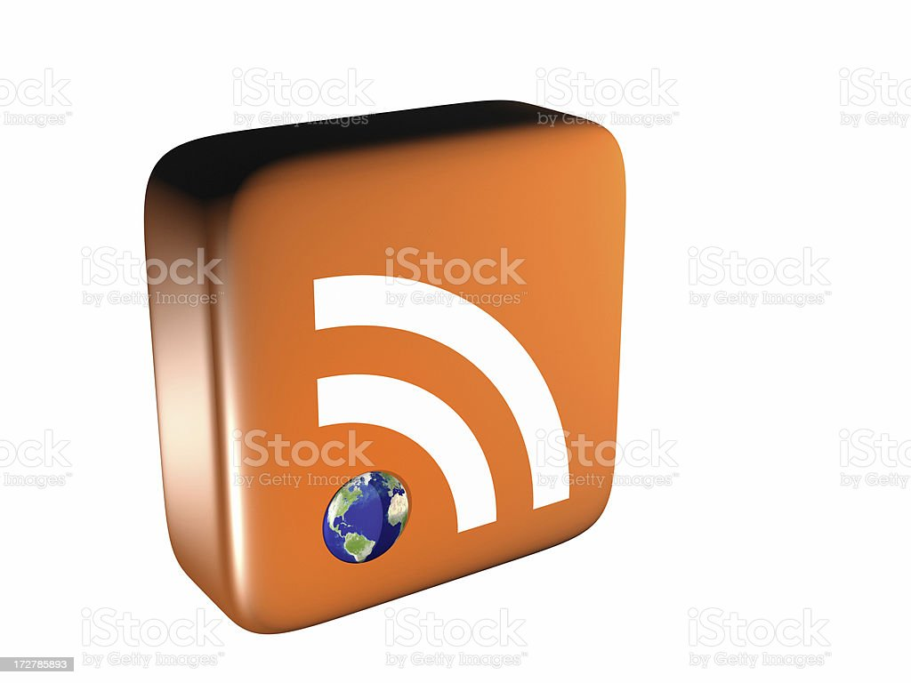 Global RSS Feed Icon - From Above royalty-free stock photo