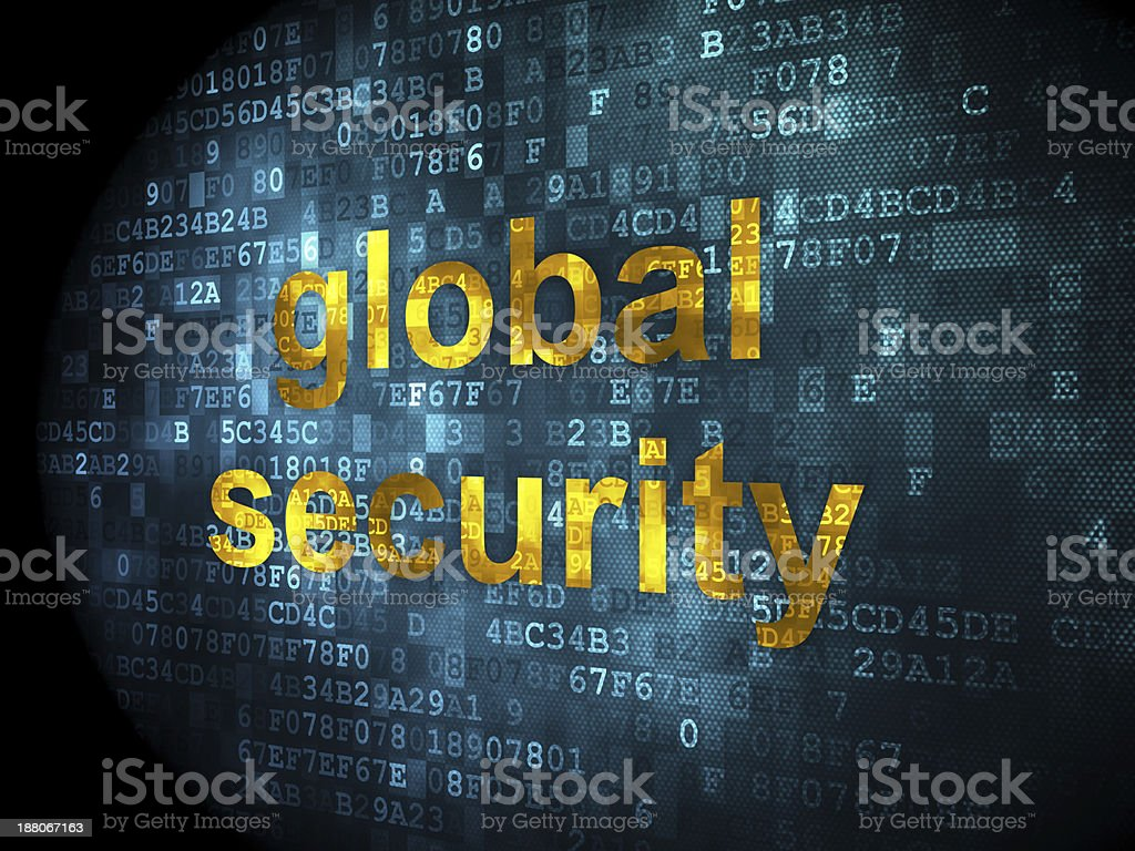 global security on digital background royalty-free stock photo
