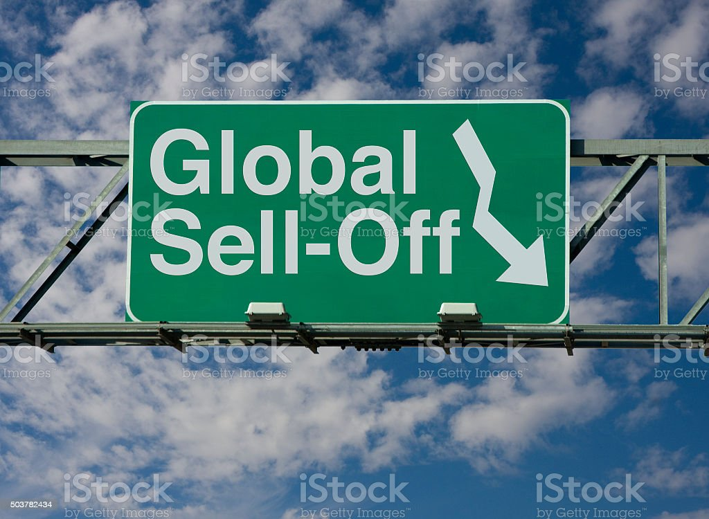 Global Sell-Off stock photo