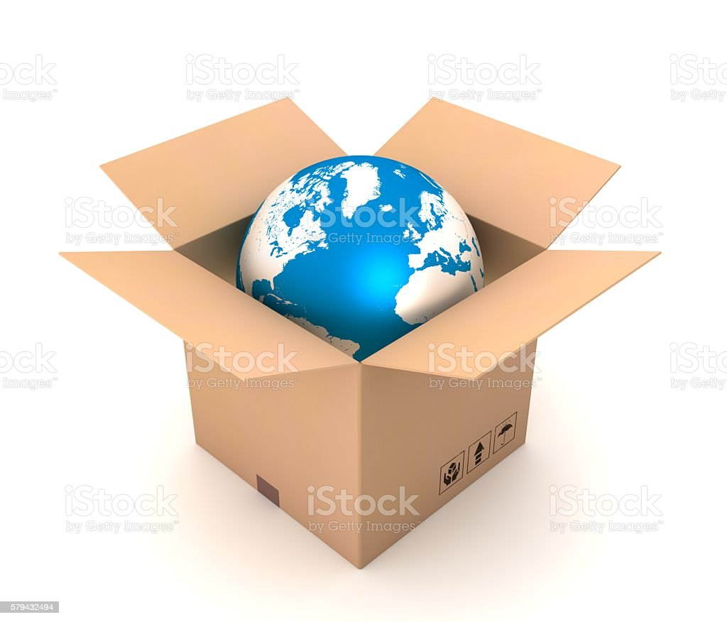 global shipping stock photo