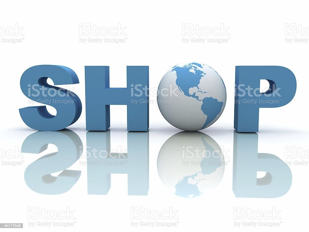 Global Shopping royalty-free stock photo