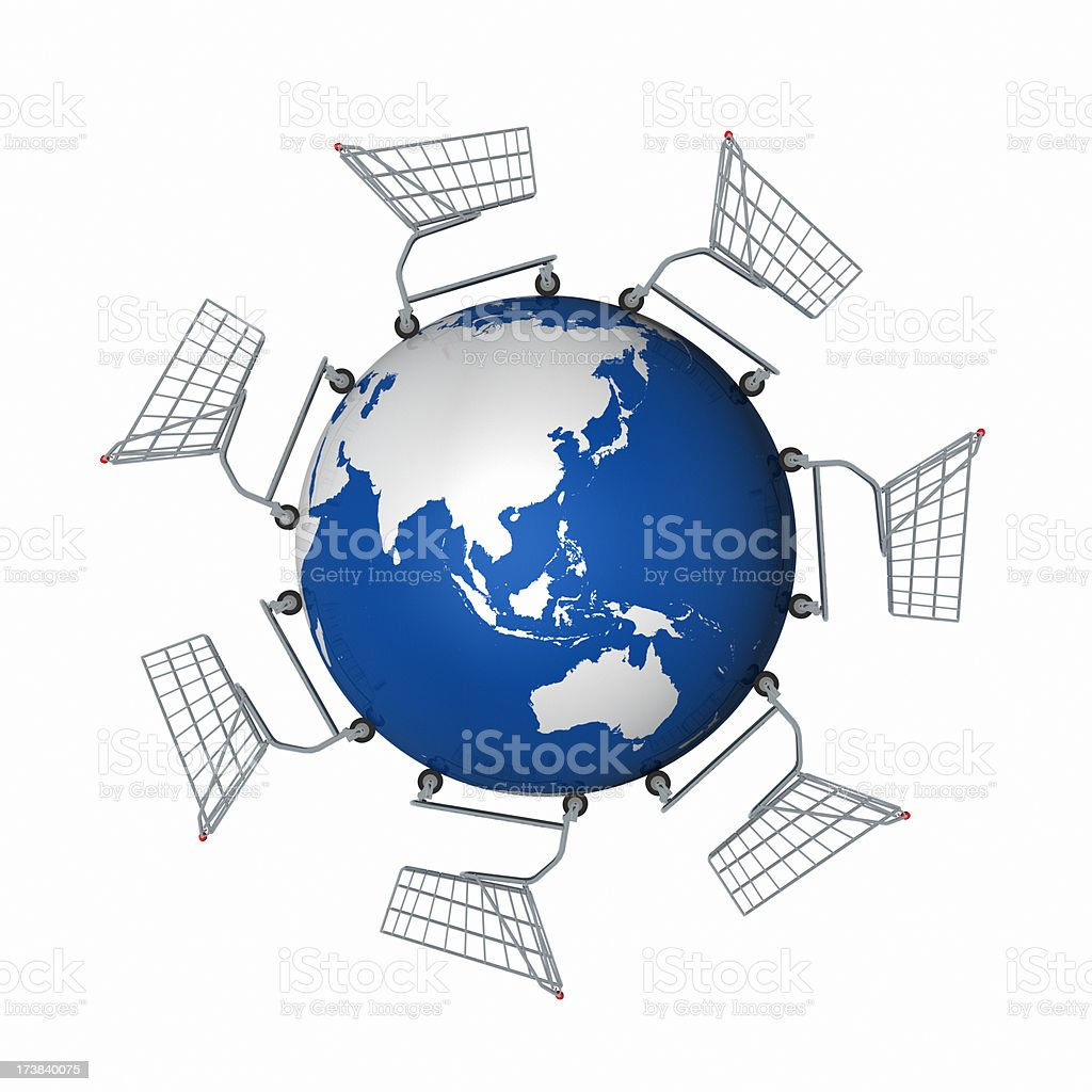 Global Shopping (Asia Pacific) XL+ royalty-free stock photo