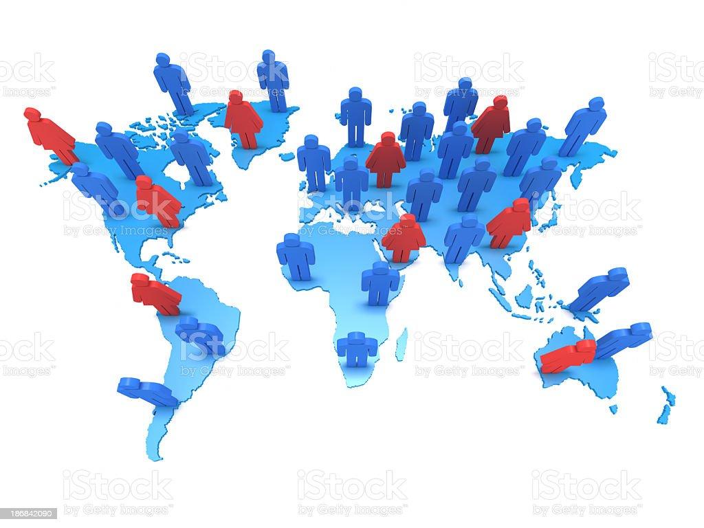 Global Social Network Communication royalty-free stock photo
