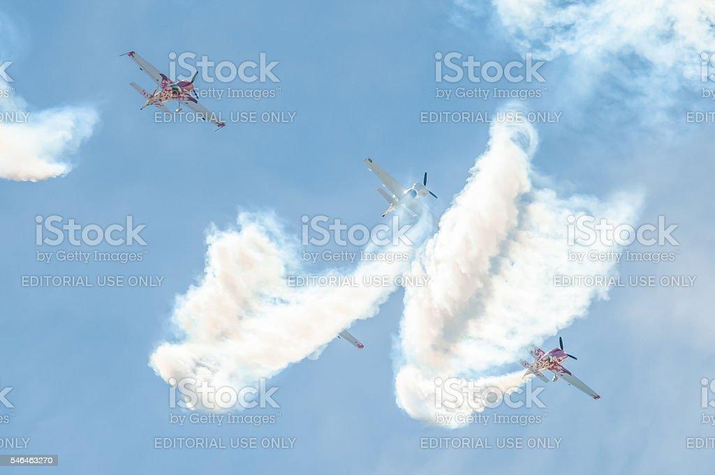 Global Stars Aerobatics stock photo