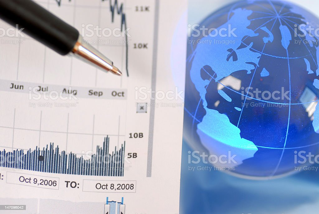 global stock market crash royalty-free stock photo