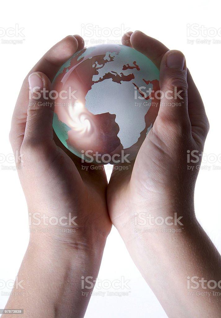 Global Storm (high key) royalty-free stock photo