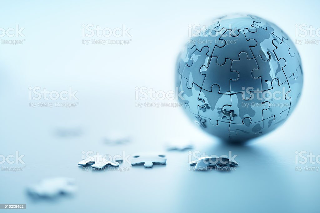 Global strategy stock photo