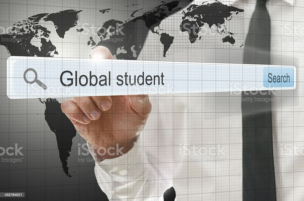 Global student written in search bar royalty-free stock photo