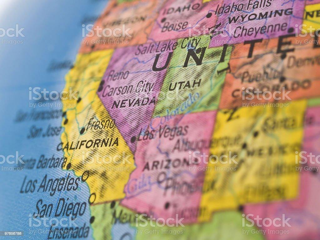 Global Studies - Focus on California USA stock photo