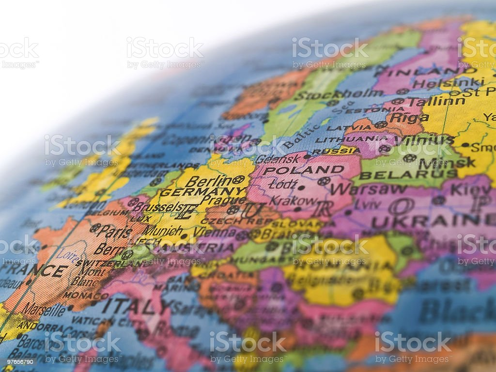 Global Studies - Focus on Central Europe stock photo