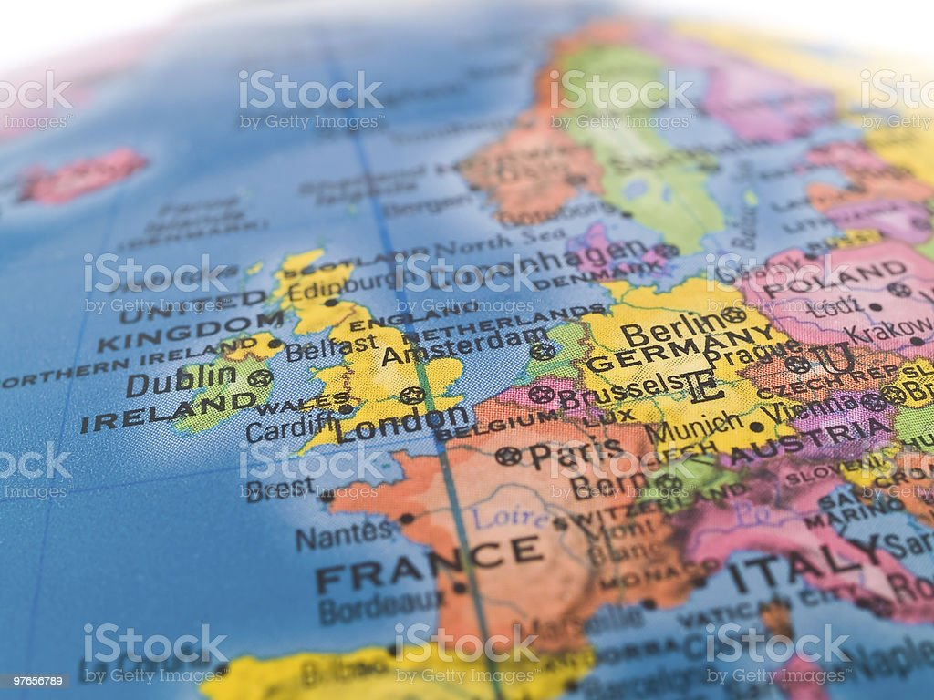 Global Studies - Focus on Northwestern Europe stock photo