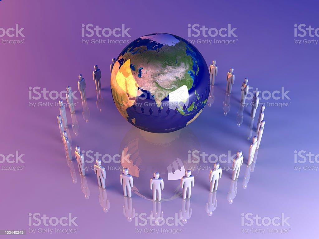 Global Team - Asia royalty-free stock photo