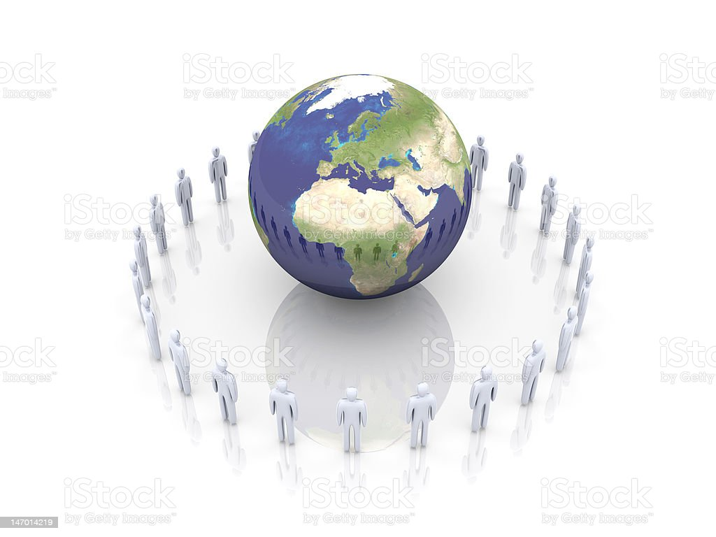 Global Team - Europe, Afrika royalty-free stock photo