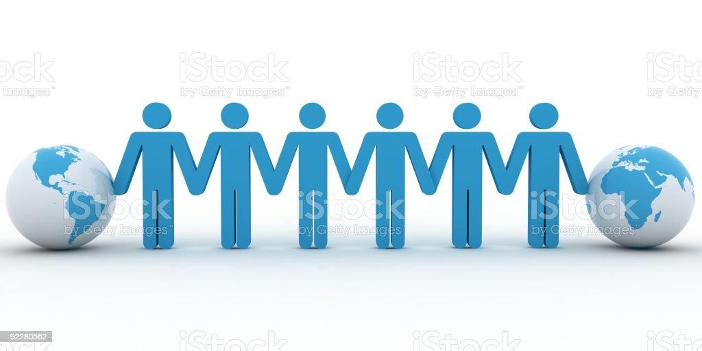 Global Teamwork royalty-free stock photo