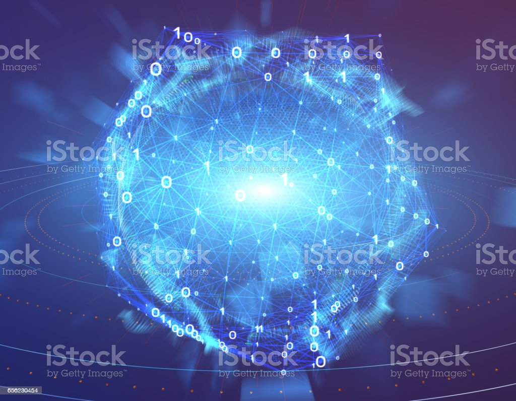 Global Technology, Future and Earth Technology stock photo