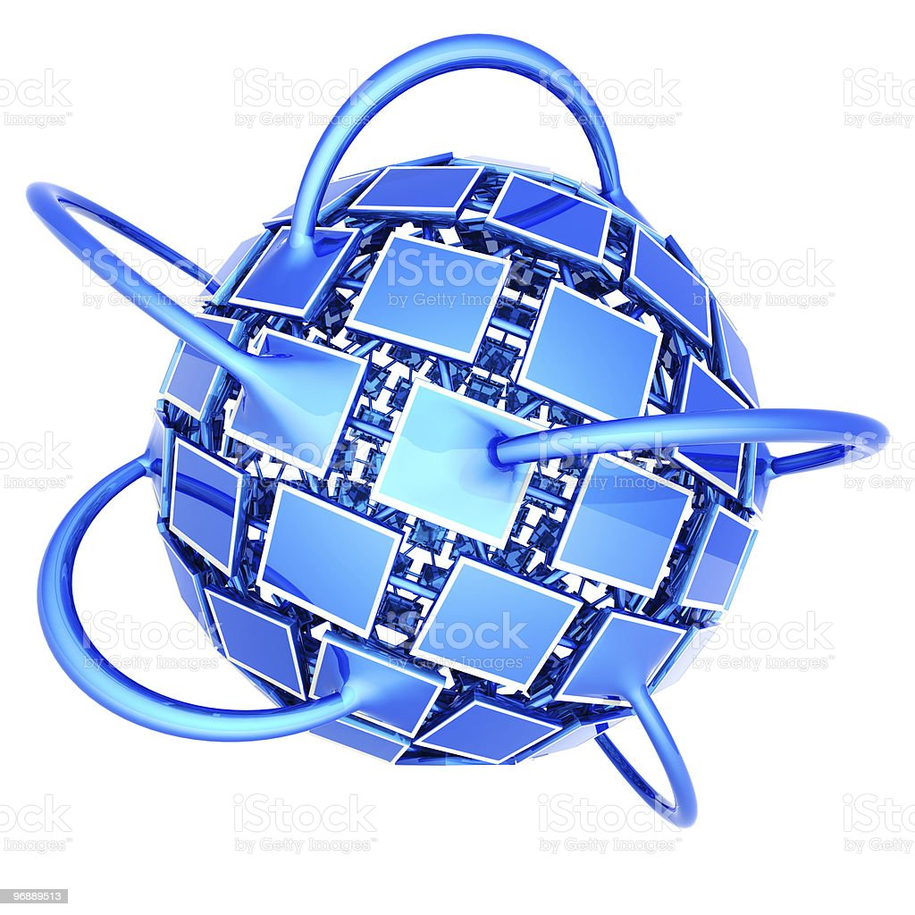 Global television network royalty-free stock photo