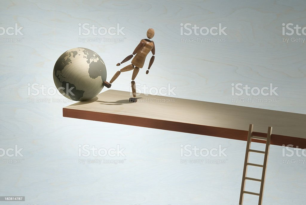 Global tipping point stock photo