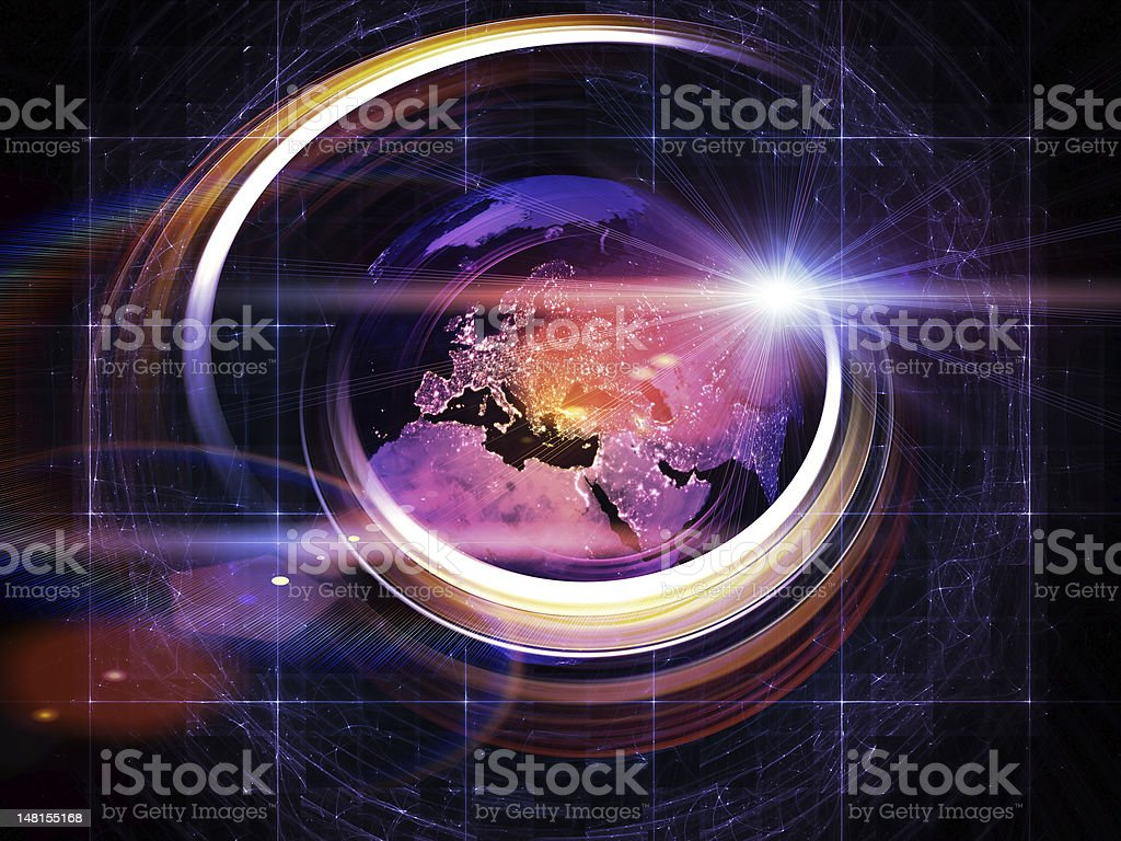 Global Trails Abstraction royalty-free stock photo