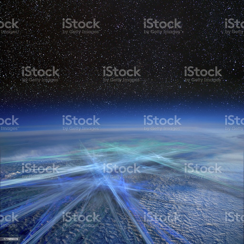 Global transport and communication. royalty-free stock photo