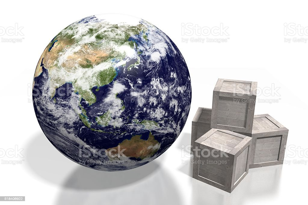 Global transport concept stock photo