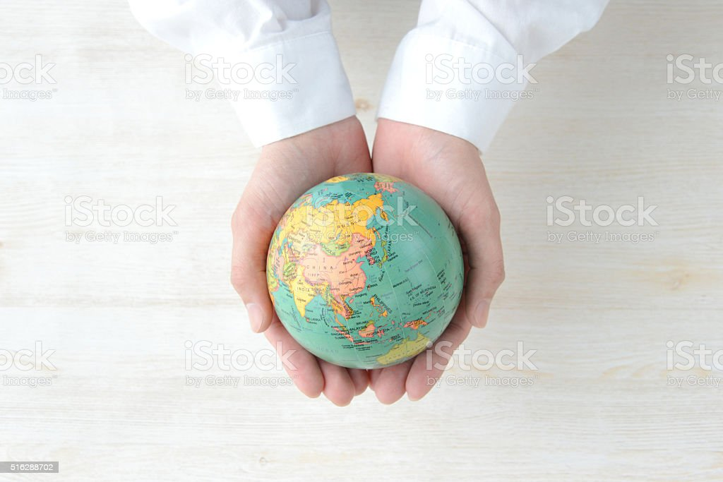 Global vision concepts stock photo
