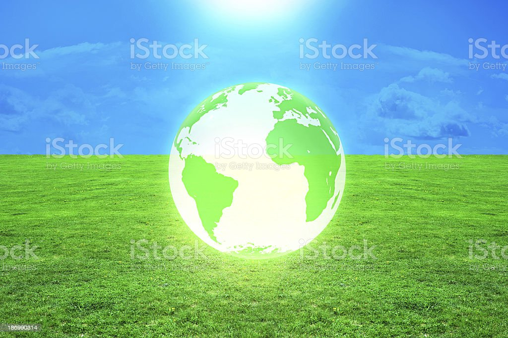 Global warming - 3d rendered illustration royalty-free stock photo