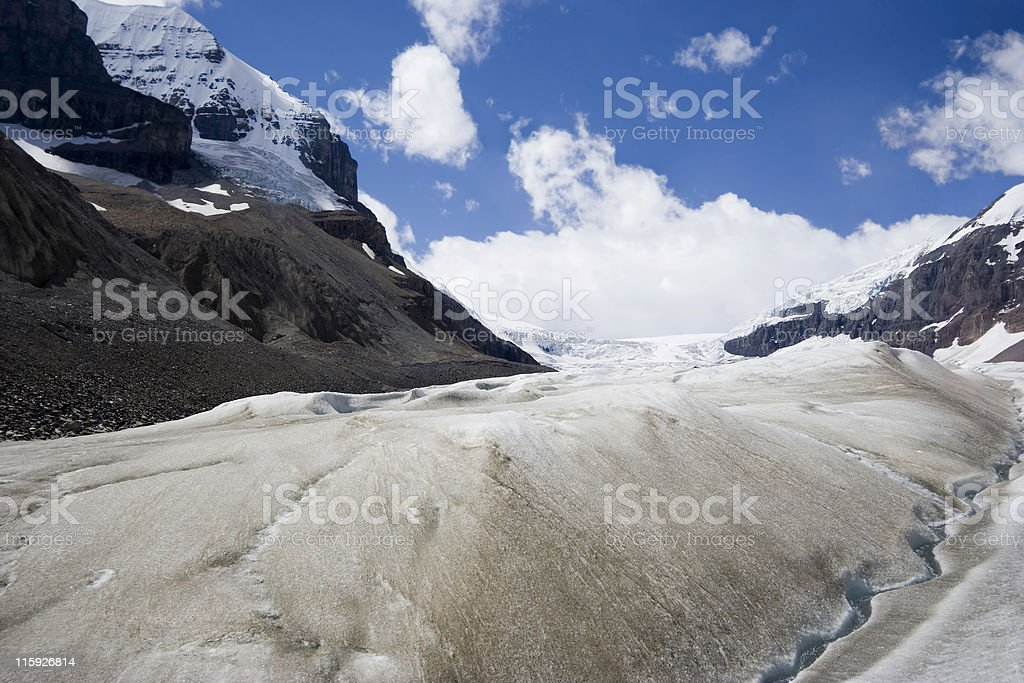 global warming and melting glaciers in the rockies royalty-free stock photo