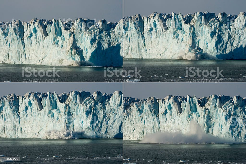 Global Warming Breaking Up Iceberg Antarctica stock photo