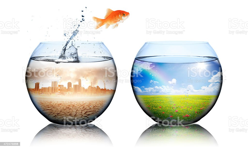 Global Warming Concept - environment disaster stock photo