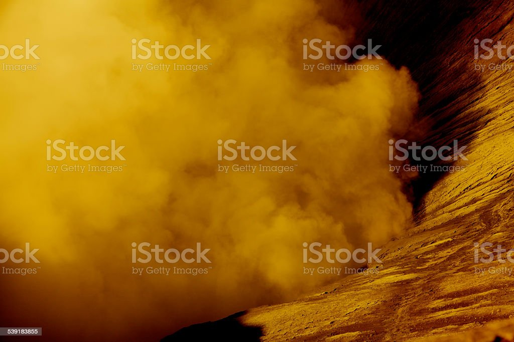 Global Warming Desert Sandstorm Cloud Drought Dry Climate Venus Earth stock photo