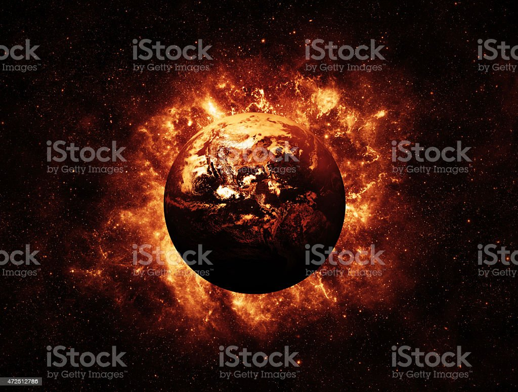 Global Warming - Elements of this Image furnished by NASA stock photo