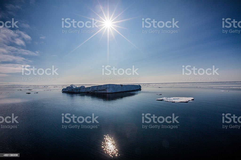 Global warming in the arctic stock photo