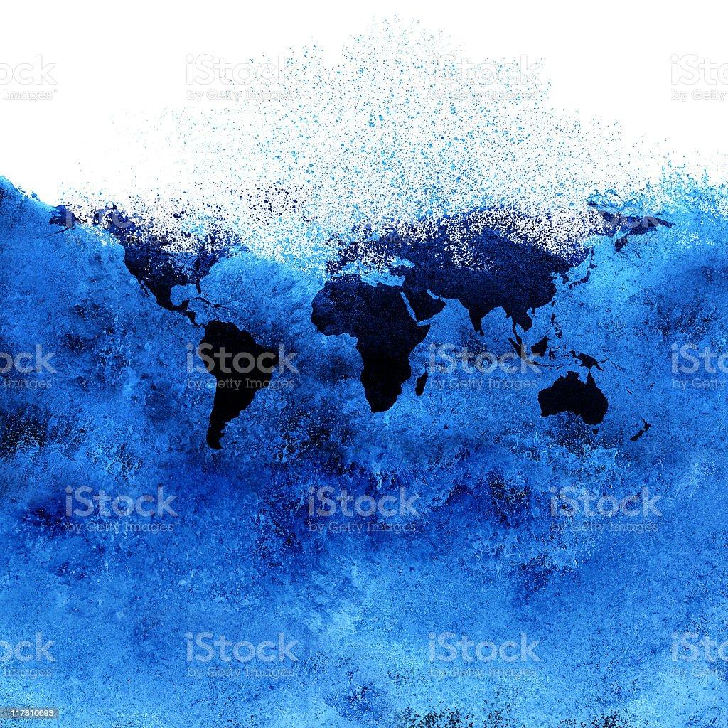 global warming metaphor stock photo