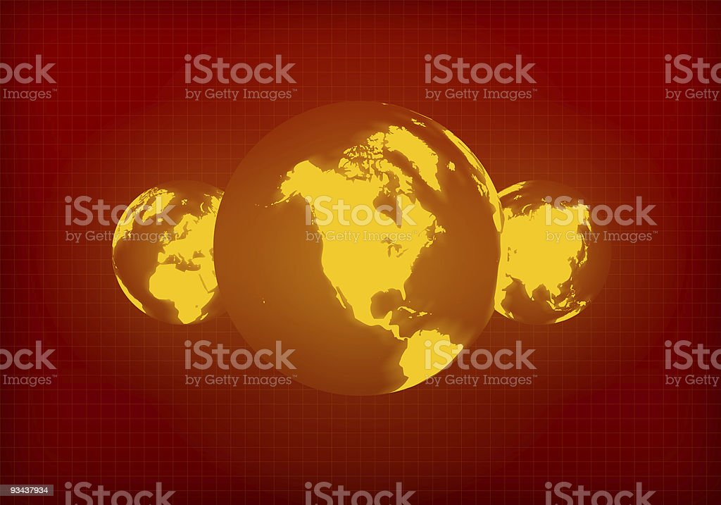 Global Warming - North America stock photo