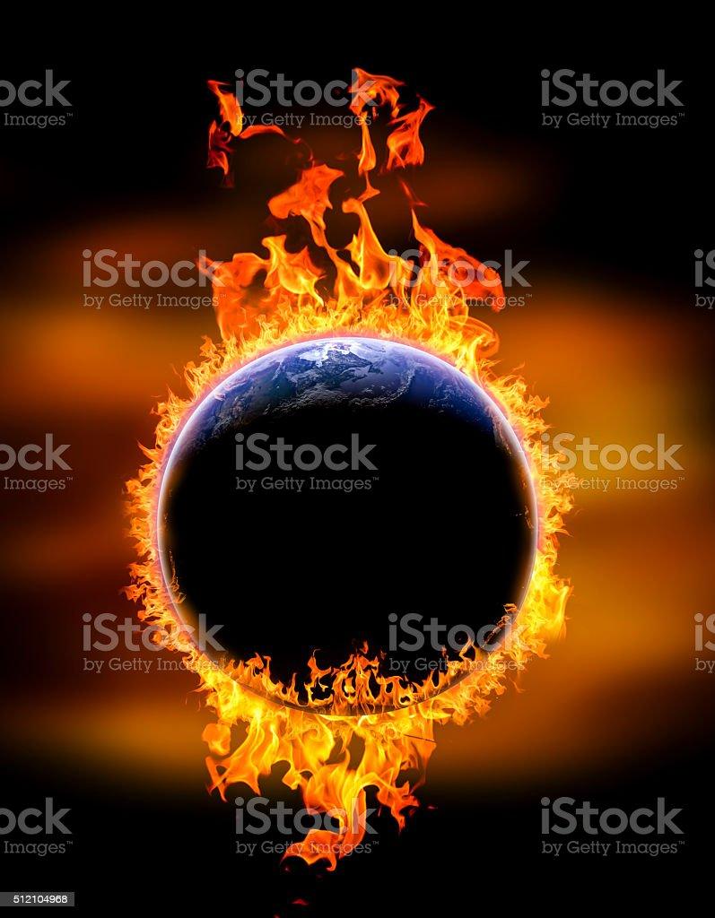 global warming on Earth stock photo