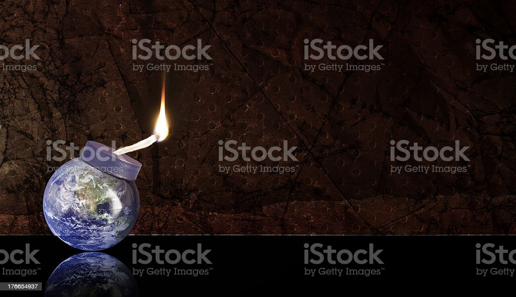 Global Warming - Planet Earth is set to explode stock photo