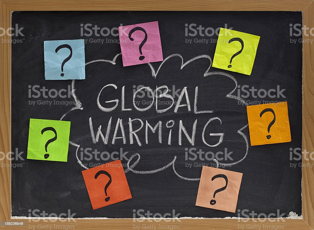 global warming question royalty-free stock photo