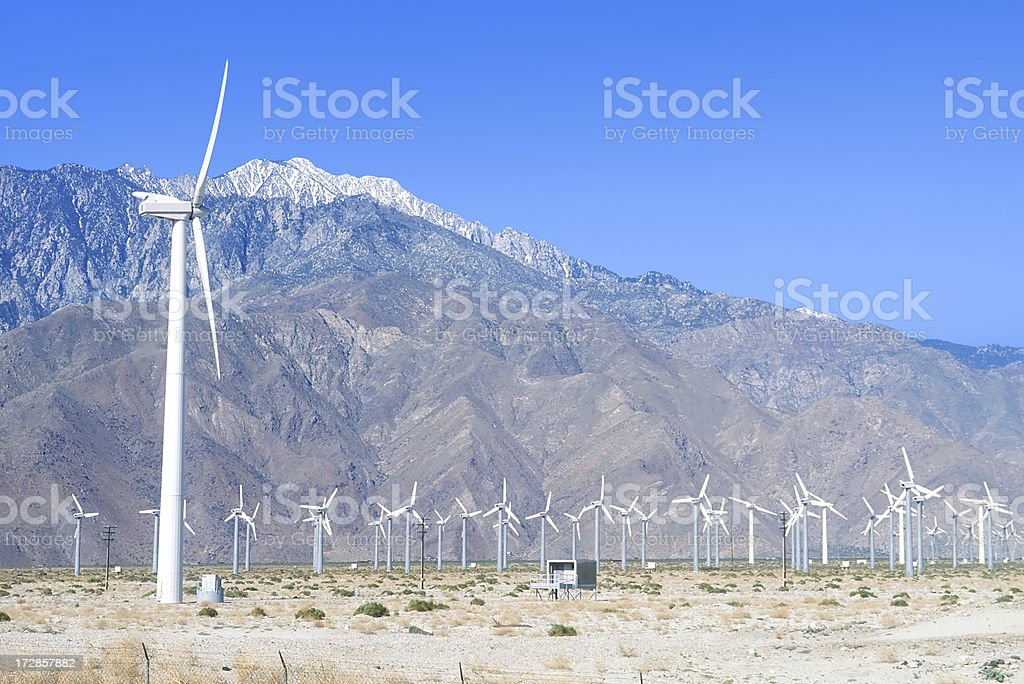 Global Warming, Windmills as Alternative Energy Source stock photo